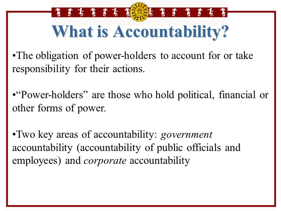 What is Accountability
