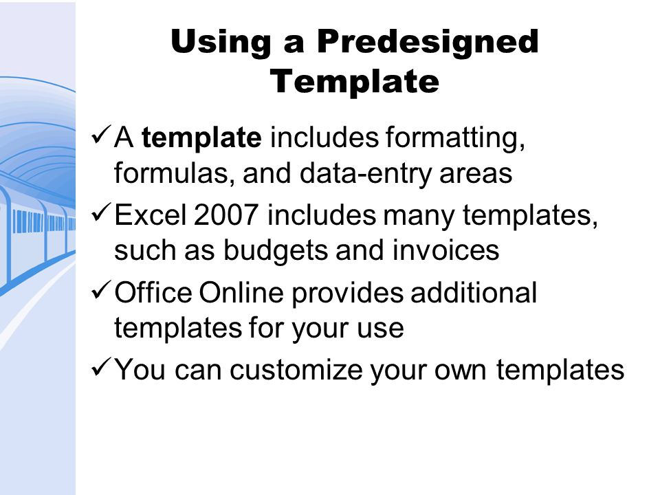Using a Predesigned Template