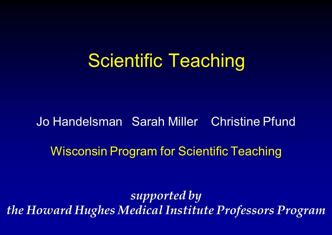 the Howard Hughes Medical Institute Professors Program