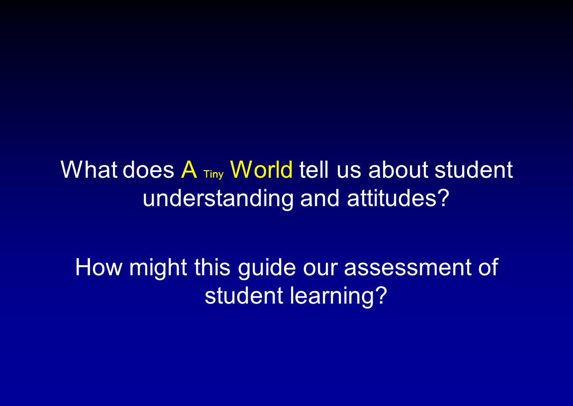 How might this guide our assessment of student learning