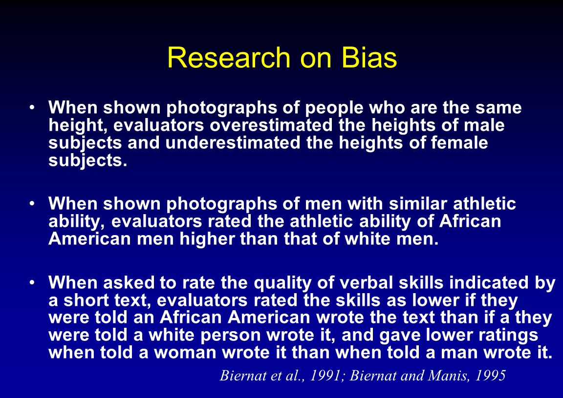 Research on Bias