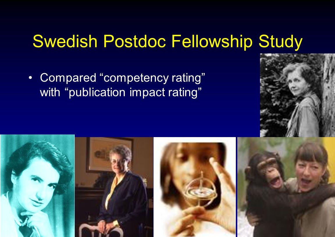Swedish Postdoc Fellowship Study
