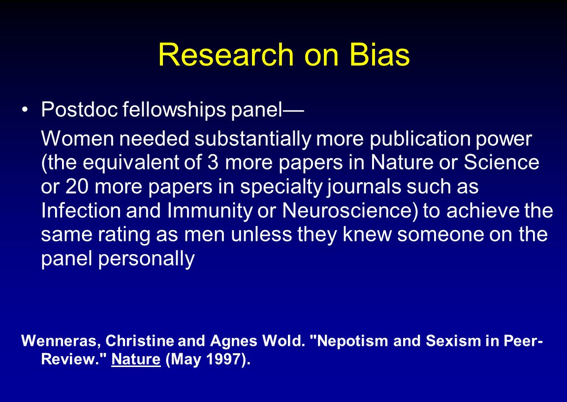 bias in research papers Bias in performance management review process creating an inclusive talent pipeline by understanding our this paper will utilize the case study rater bias much of the global research on bias is focused on gender.