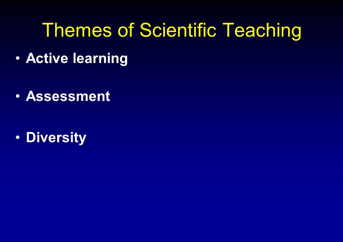 Themes of Scientific Teaching