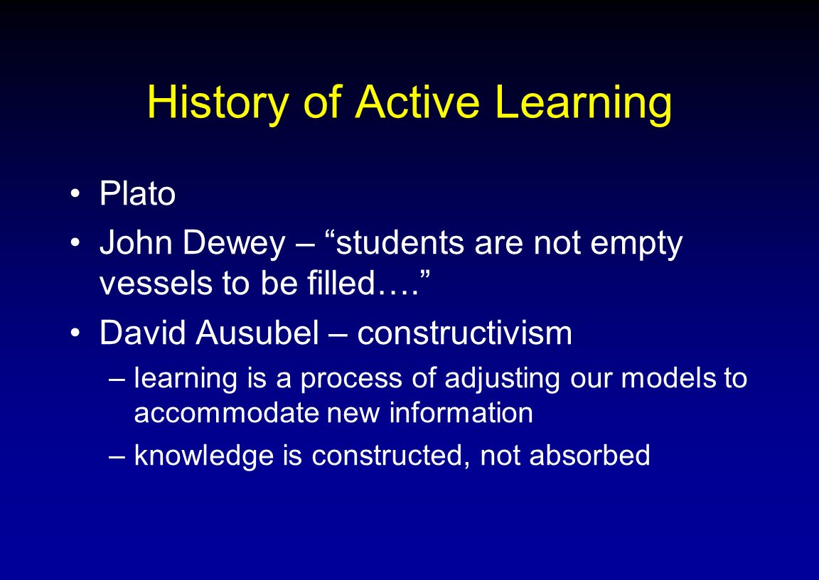 History of Active Learning