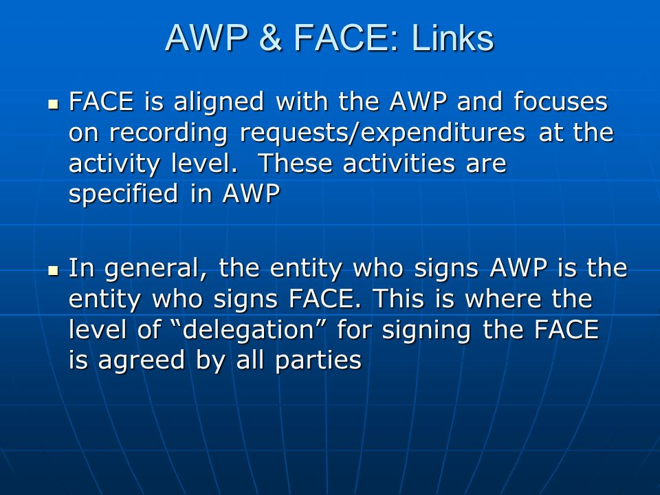 AWP & FACE: Links
