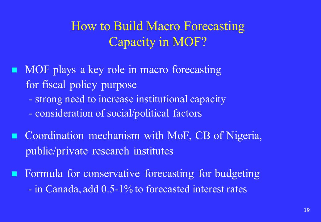 How to Build Macro Forecasting Capacity in MOF