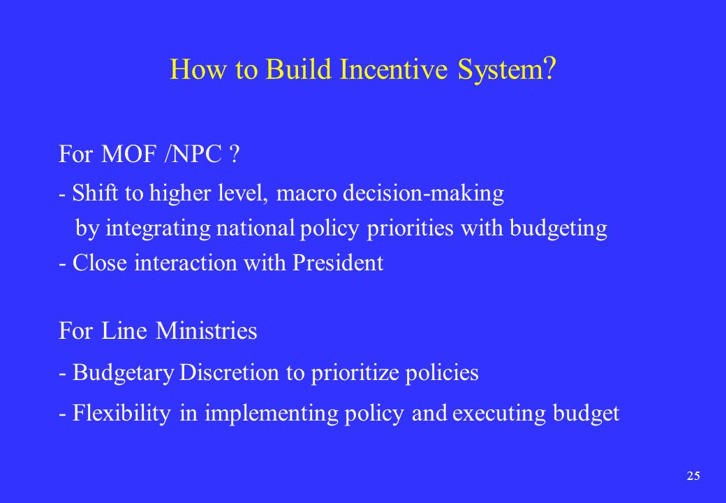How to Build Incentive System