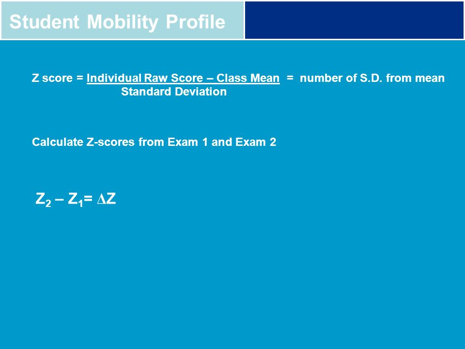 Student Mobility Profile