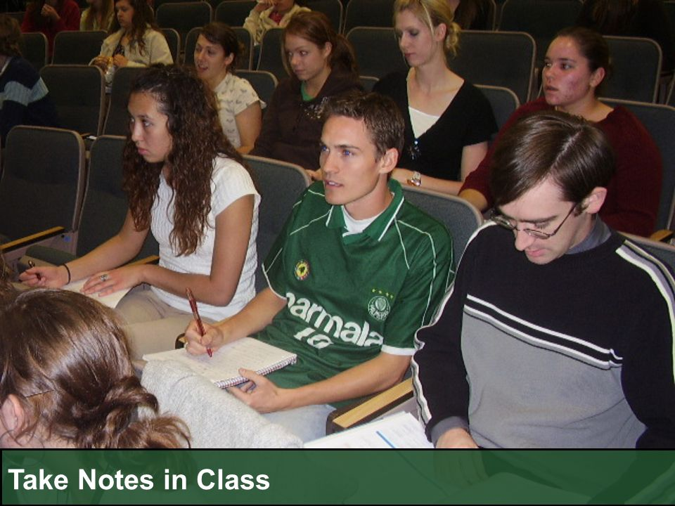 Take Notes in Class