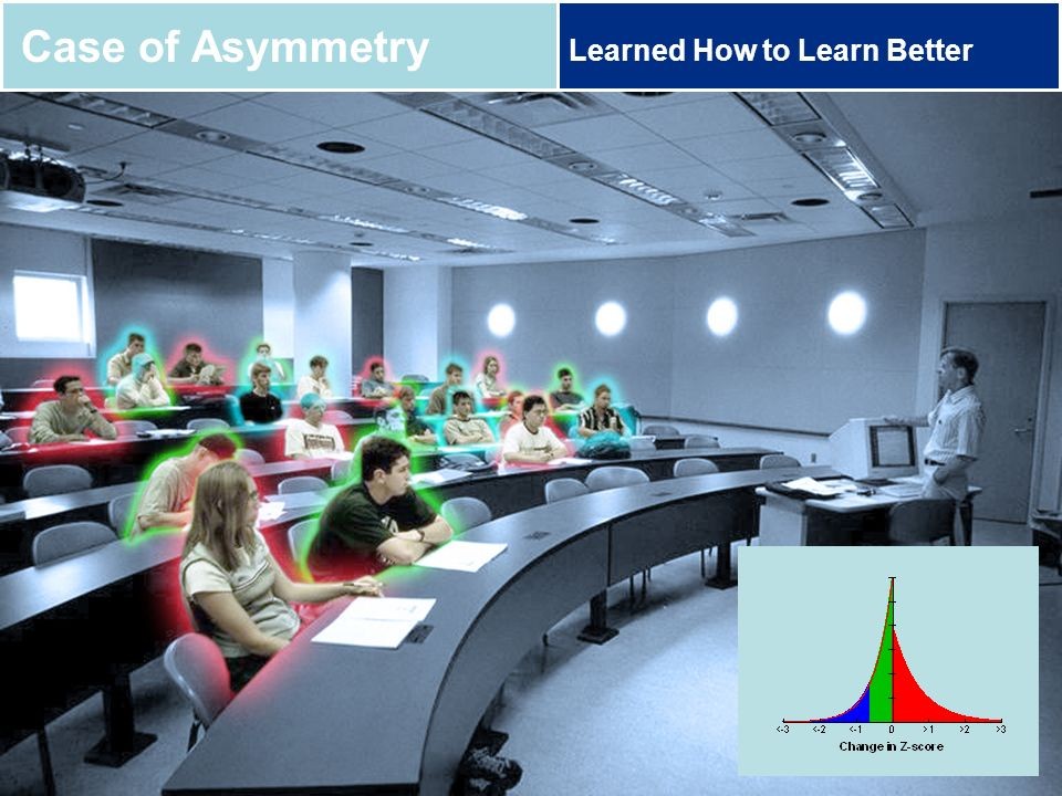 Case of Asymmetry Learned How to Learn Better