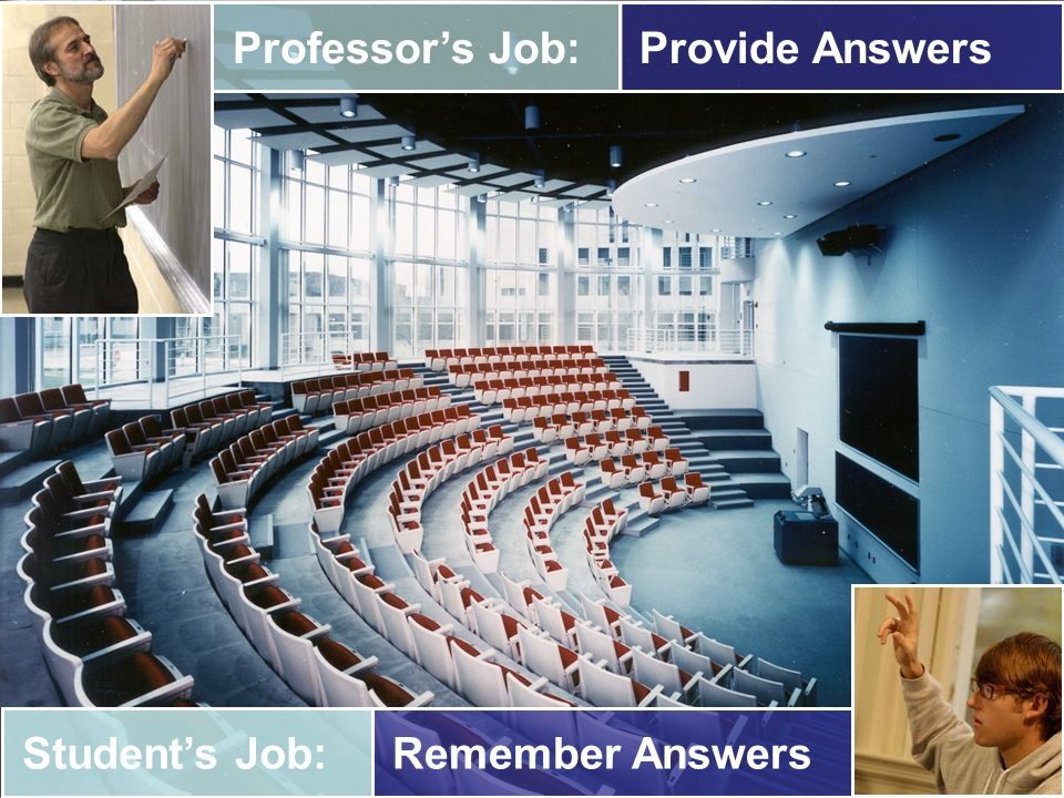 Provide Answers Professor's Job: Remember Answers Student's Job:
