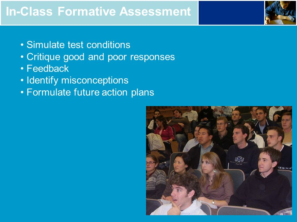 In-Class Formative Assessment