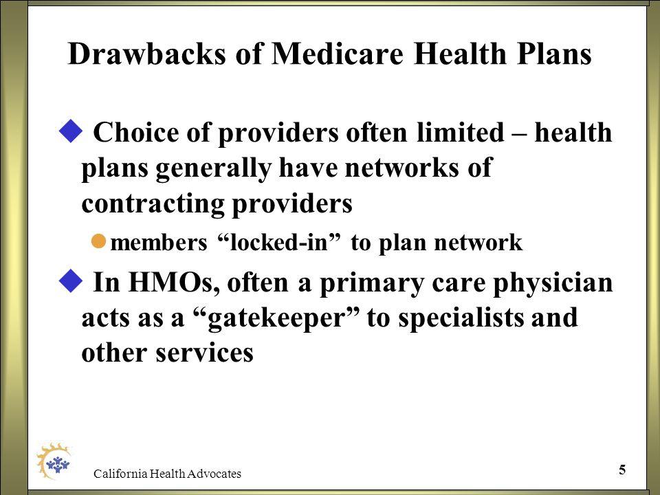 Drawbacks of Medicare Health Plans
