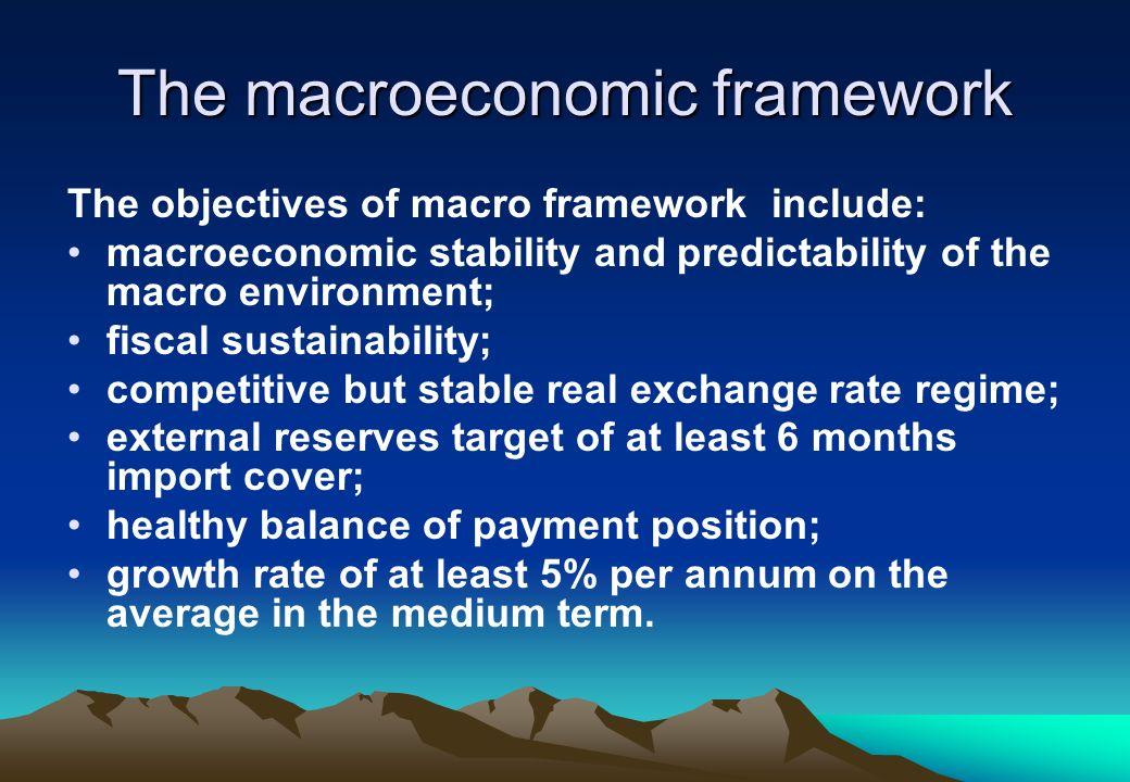 The macroeconomic framework