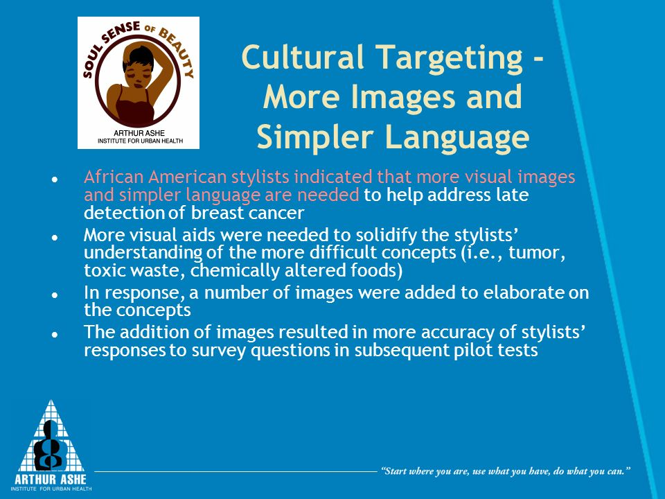 Cultural Targeting - More Images and Simpler Language