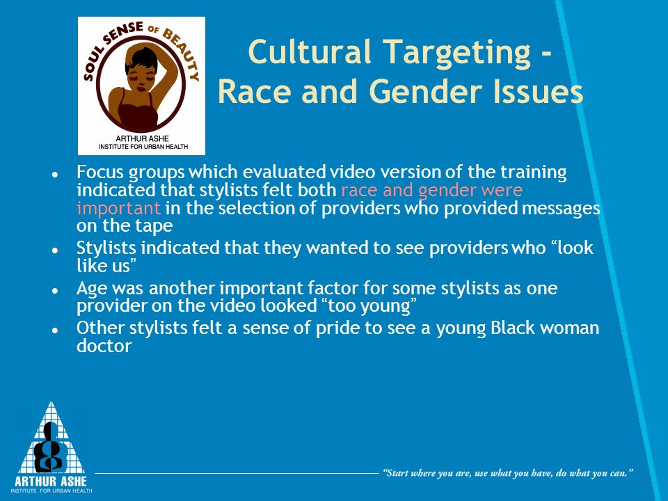 Cultural Targeting - Race and Gender Issues