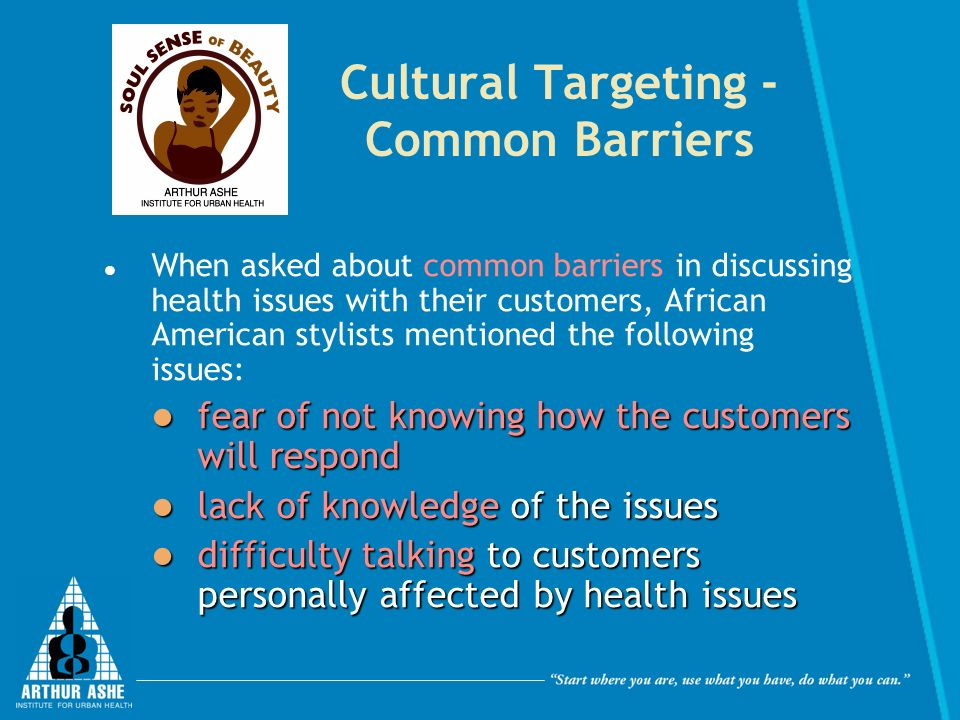 Cultural Targeting - Common Barriers
