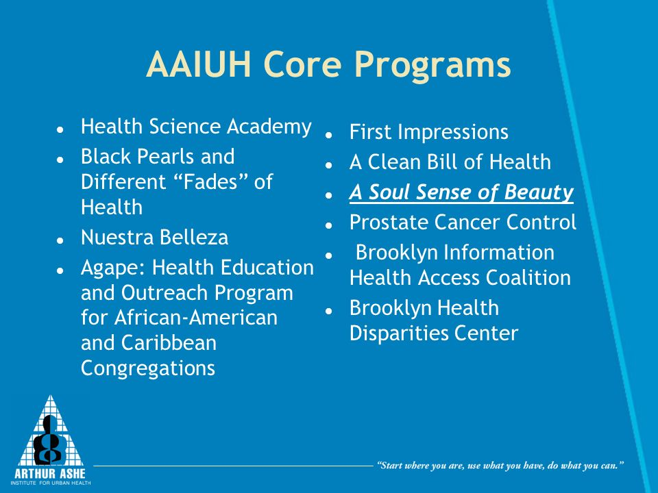 AAIUH Core Programs Health Science Academy First Impressions
