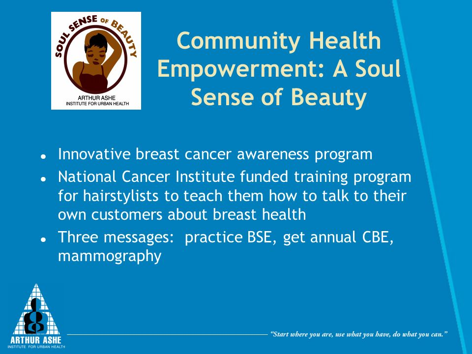 Community Health Empowerment: A Soul Sense of Beauty