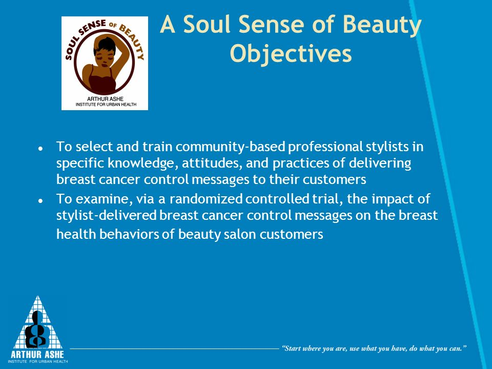 A Soul Sense of Beauty Objectives