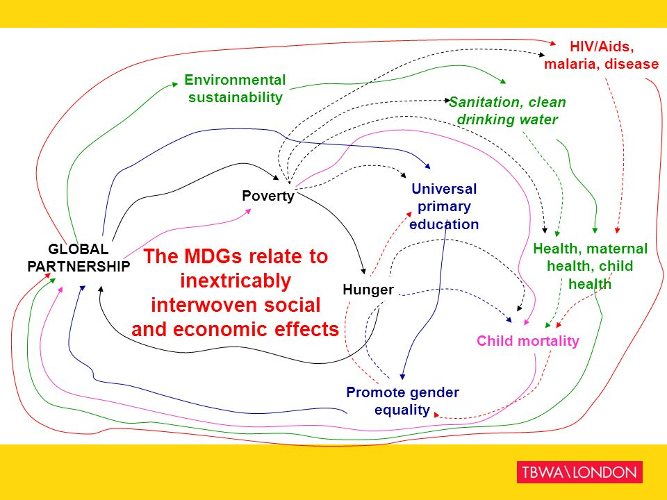 The MDGs relate to inextricably interwoven social and economic effects