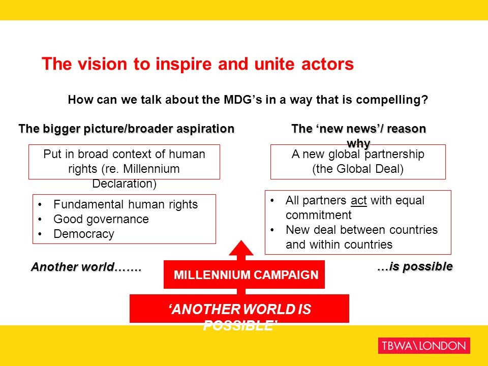 The vision to inspire and unite actors