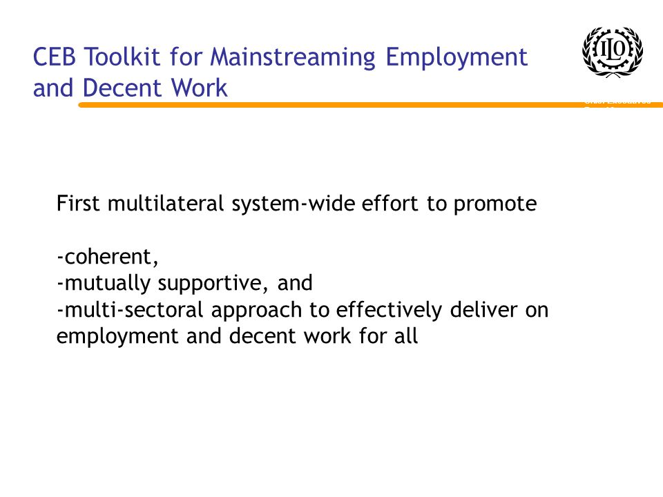 CEB Toolkit for Mainstreaming Employment and Decent Work