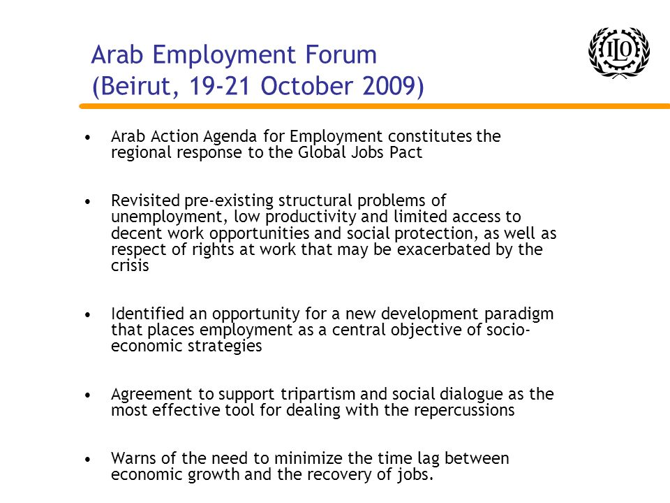 Arab Employment Forum (Beirut, 19-21 October 2009)