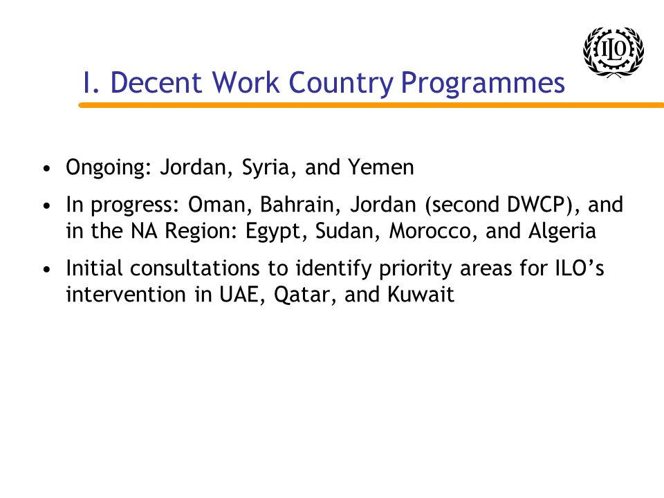 I. Decent Work Country Programmes