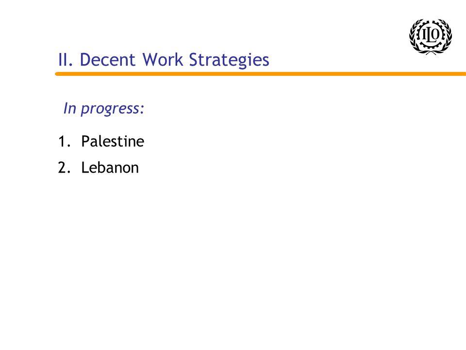 II. Decent Work Strategies