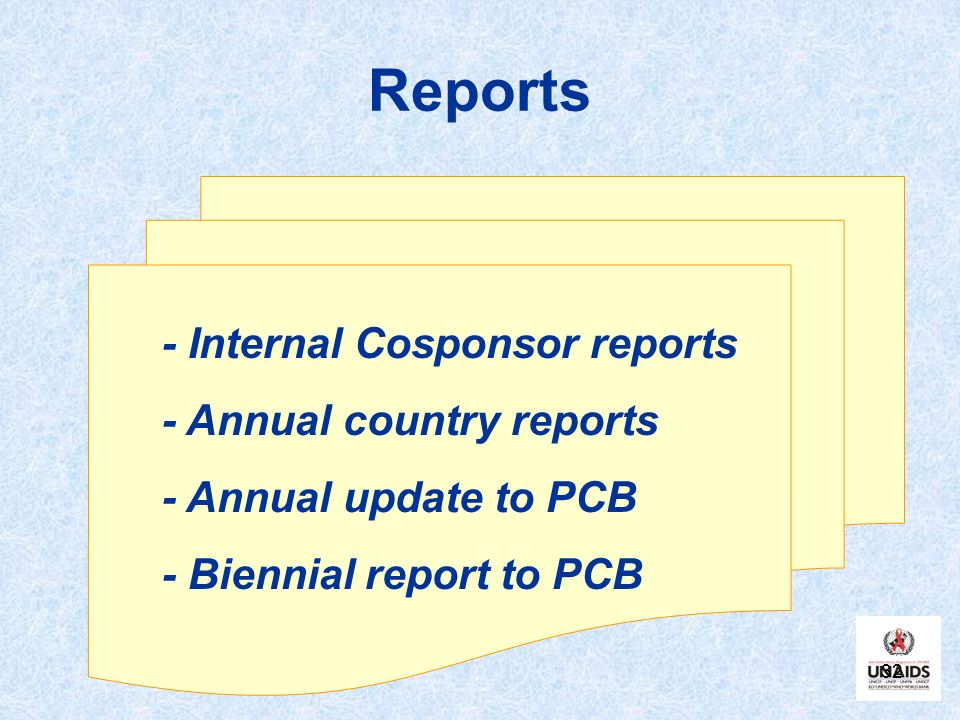 Reports - Internal Cosponsor reports - Annual country reports