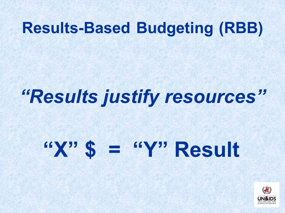 Results-Based Budgeting (RBB)