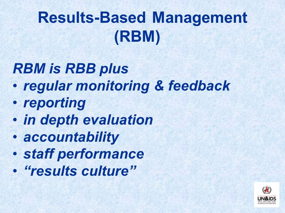 Results-Based Management (RBM)