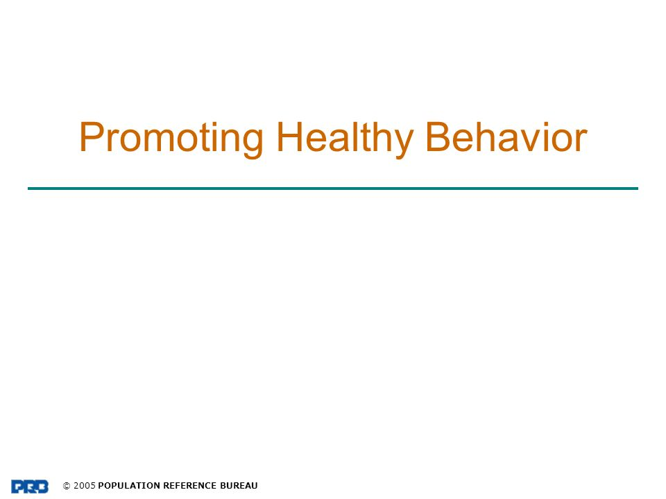 Promoting Healthy Behavior