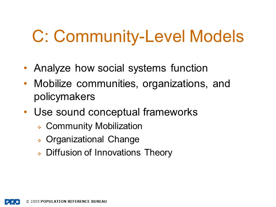 C: Community-Level Models