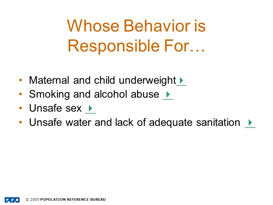 Whose Behavior is Responsible For…