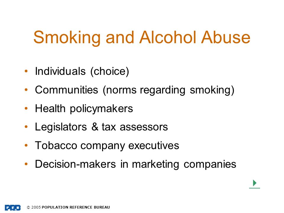 Smoking and Alcohol Abuse