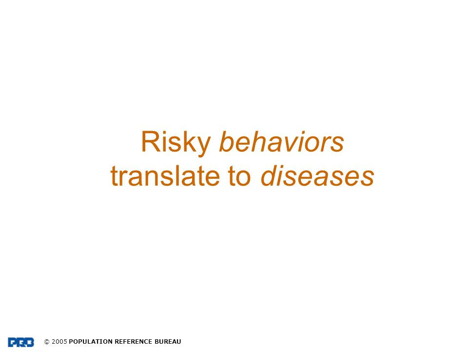 Risky behaviors translate to diseases