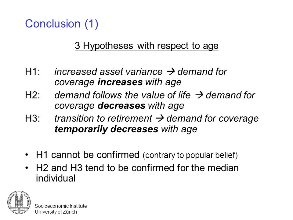 3 Hypotheses with respect to age