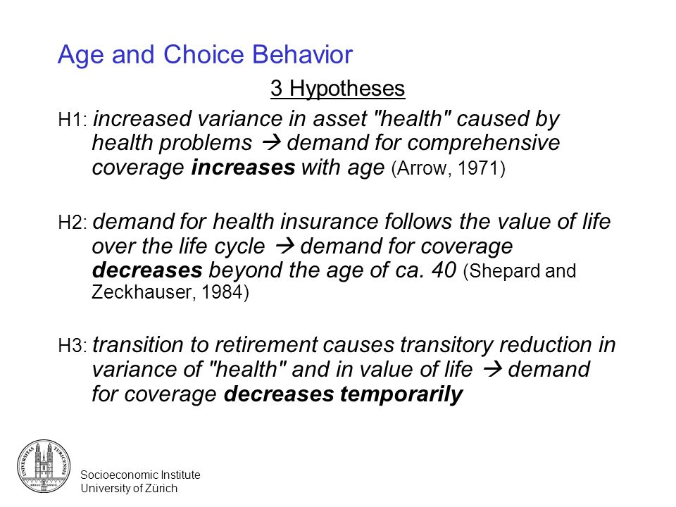 Age and Choice Behavior