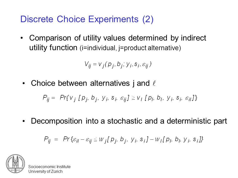Discrete Choice Experiments (2)