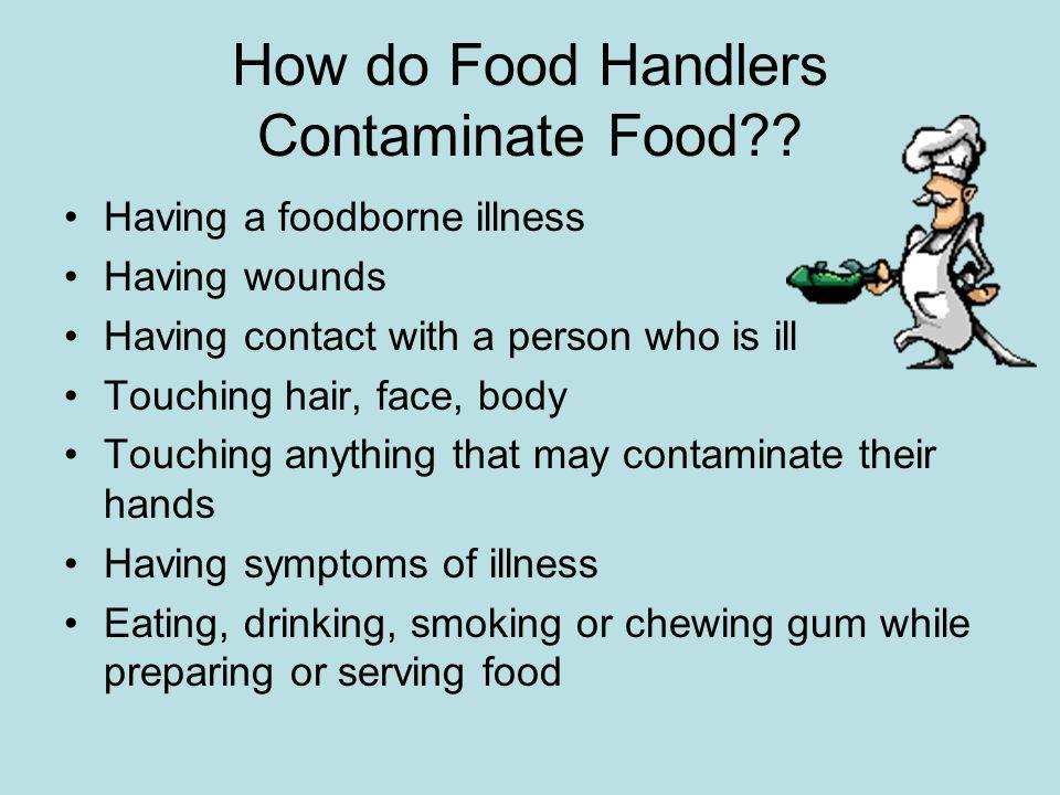 How do Food Handlers Contaminate Food