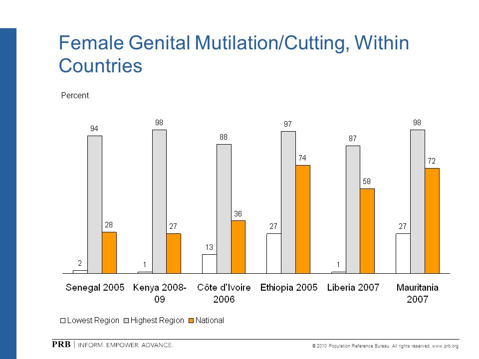 Female Genital Mutilation/Cutting, Within Countries
