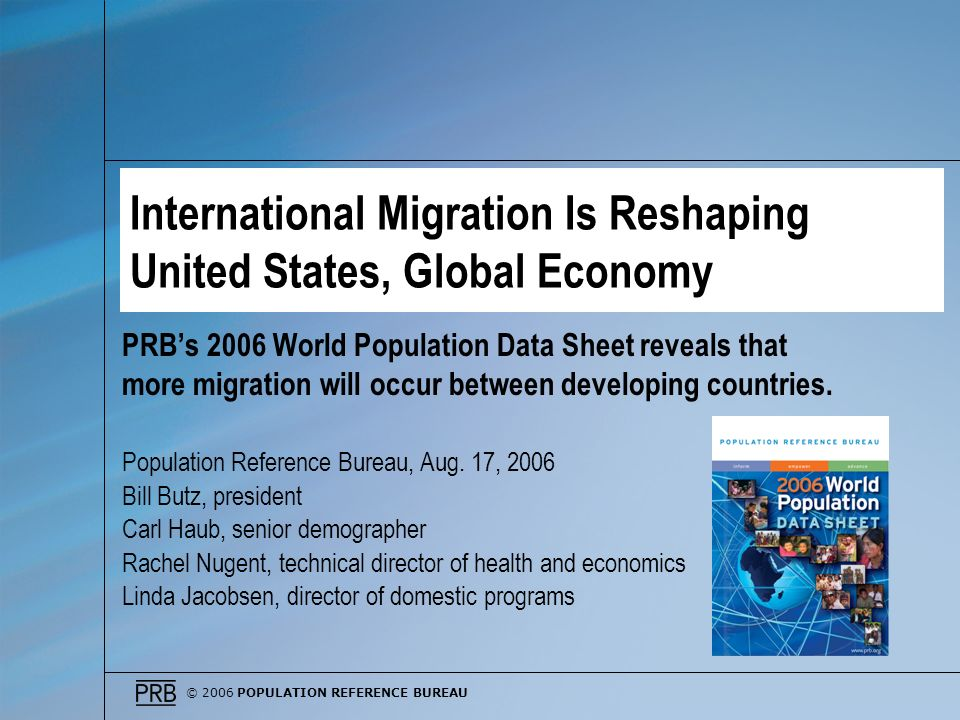 International Migration Is Reshaping United States, Global Economy