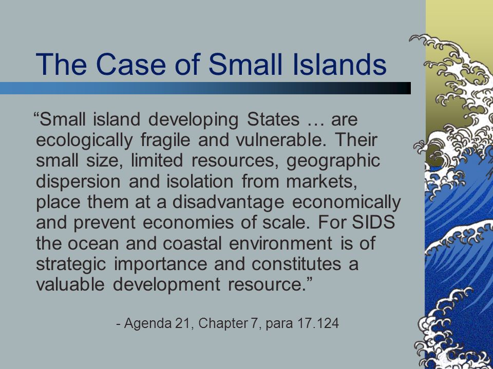 The Case of Small Islands