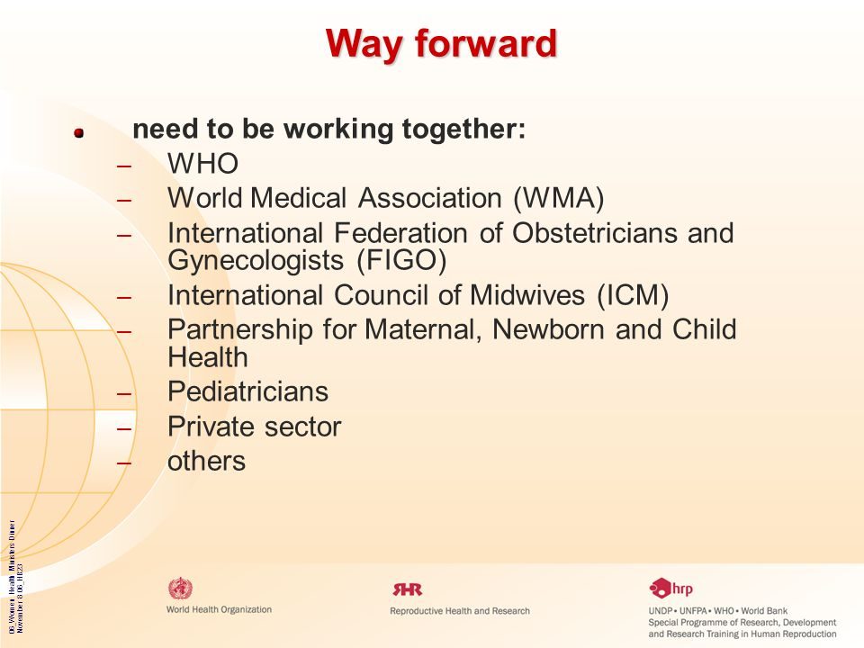 Way forward need to be working together: WHO
