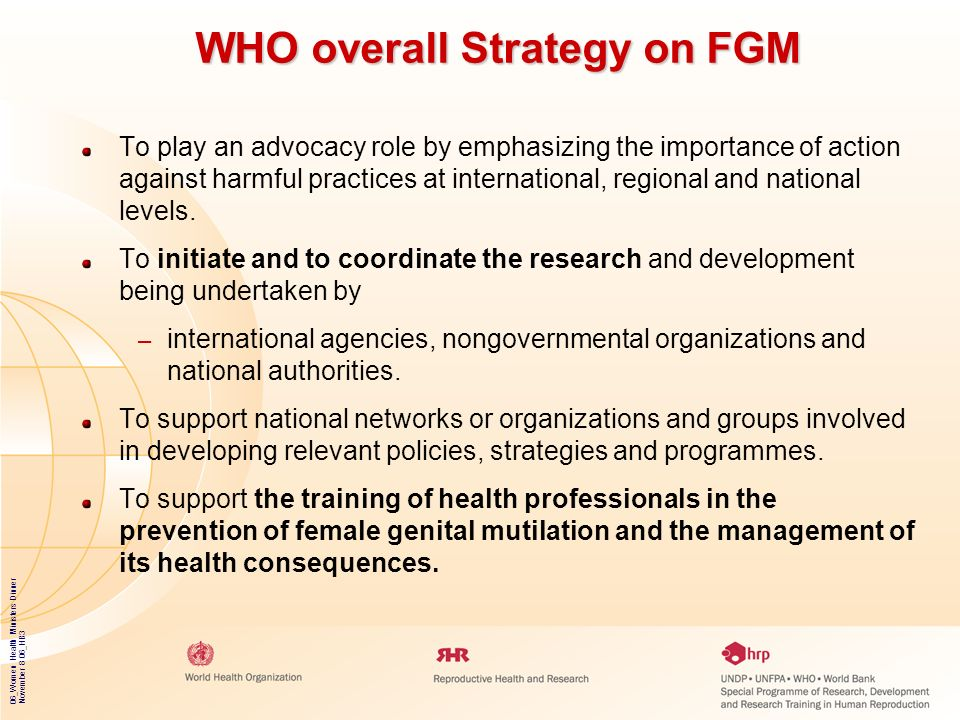 WHO overall Strategy on FGM