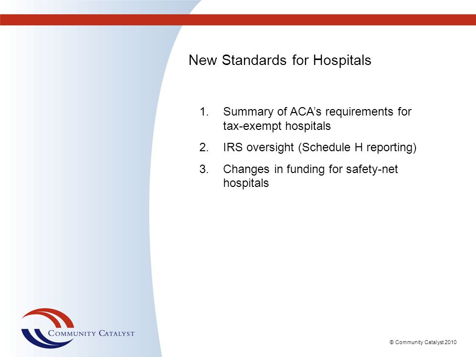 New Standards for Hospitals