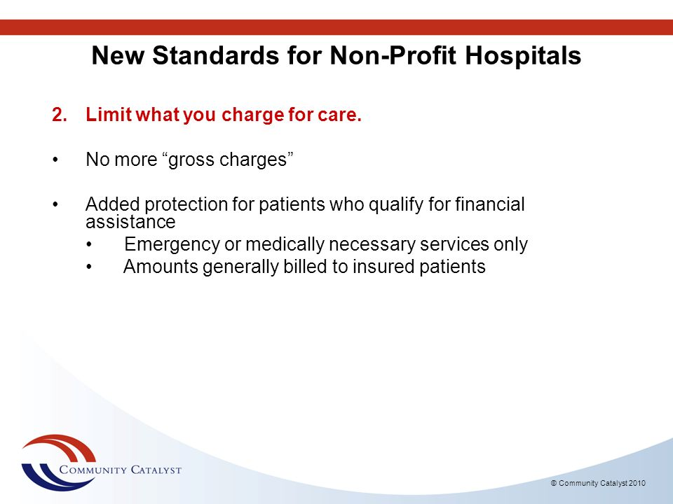 New Standards for Non-Profit Hospitals